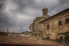 Voltera Tuscany Italy City. Voltera Tuscany Landscape June Ancient city rooftops stock photos