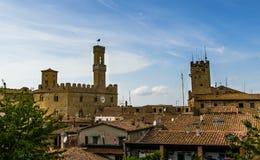 Volterra über den Dächern Stockbilder
