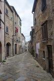 Volterra, Тоскана, исторический город Стоковое Фото