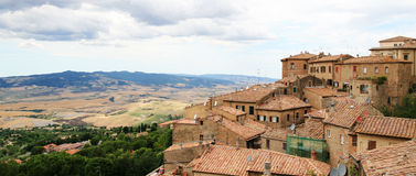 Volterra. Panoramic view from volterra - medieval town in central tuscany, italy Stock Photos