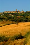 Volterra. Hills by blue sky Stock Image