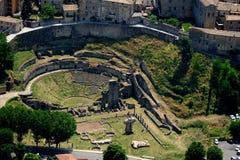 Volterra-Amphitheatre Stock Image