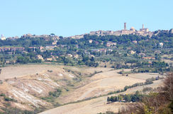 Volterra and the balze landscape, Tuscany, Italy Royalty Free Stock Images