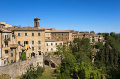 Volterra beautiful medieval town in Tuscany royalty free stock images