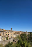 Volterra beautiful medieval town in Tuscany, Italy. stock photo