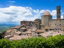 Volterra beautiful medieval town in Tuscany, Italy Royalty Free Stock Photos