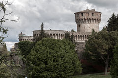 Volterra Castle Stock Photo