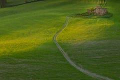 Volterra, città medievale della Toscana, Italia - di Volterra, gli impianti di Mauro Staccioli di scultor installati nel 2009 per Immagini Stock Libere da Diritti