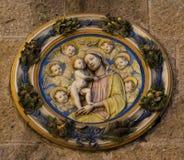 volterra för priori för deidetaljpalazzo royaltyfri bild