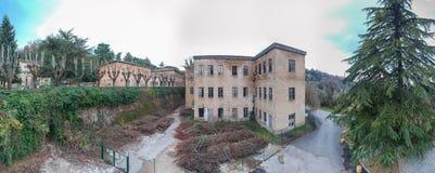 Volterra, Italia Bella vista panoramica aerea di antico e Immagine Stock