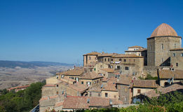 Volterra in Italien-Skylinen Lizenzfreie Stockfotos