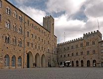 Volterra, Italy - comune and main square Royalty Free Stock Images