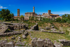 Volterra medieval town in Tuscany Italy Stock Image
