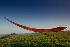 Volterra, mittelalterliche Stadt Toskana, Italien - Volterra, die scultor Mauro Staccioli-Arbeiten installiert im Jahre 2009 für  Stockfotografie