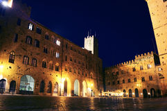 Volterra noc Zdjęcie Stock