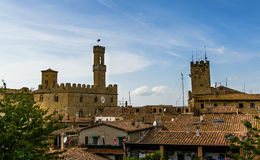 Volterra over the roofs. Stock Images