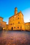 Volterra, palais médiéval Palazzo Dei Priori, état de Pise, le Toscan image libre de droits