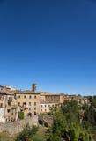 Volterra piękny średniowieczny miasteczko w Tuscany, Włochy zdjęcie stock
