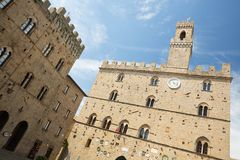 Volterra on Piazza dei Priori Royalty Free Stock Photography