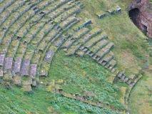 Volterra romersk teater Arkivbilder