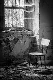 Volterra's sanitarium. Volterra, Italy - September 2016: Abandoned psychiatric hospital in Volterra. It was home to more than 6,000 mental patients but was shut royalty free stock photo