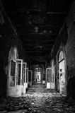 Volterra's sanitarium. Volterra, Italy - September 2016: Abandoned psychiatric hospital in Volterra. It was home to more than 6,000 mental patients but was shut stock images