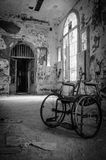 Volterra's sanitarium. Volterra, Italy - September 2016: Abandoned psychiatric hospital in Volterra. It was home to more than 6,000 mental patients but was shut royalty free stock photos