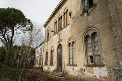 Volterra - Sanitarium. Abandoned insane asylum in Volterra, Tuscany royalty free stock images