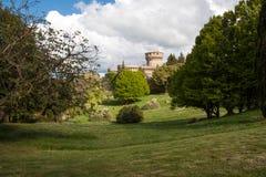 Volterra slott Arkivfoton