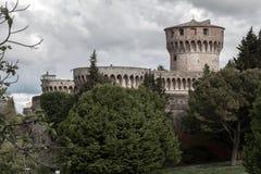 Volterra slott Arkivfoto