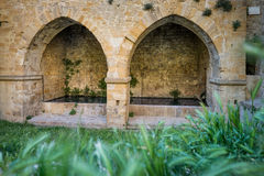 VOLTERRA, TOSCANA - 21 de mayo de 2017 - la fuente de San Felice Fotografía de archivo libre de regalías