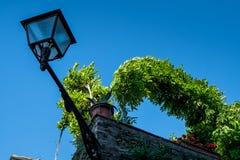VOLTERRA, TOSCANA - 21 maggio 2017 - dettaglio di una lampada di via Fotografie Stock Libere da Diritti