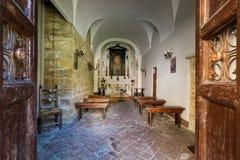 VOLTERRA, TOSCANA - 21 maggio 2017 - la piccola chiesa di San Felice Immagini Stock