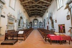 VOLTERRA, TOSCANE - 21 mai 2017 - église de St Francis, inte photographie stock libre de droits