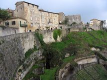 Volterra Town and Amphitheatre Royalty Free Stock Images
