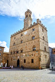 Volterra town central square Stock Images