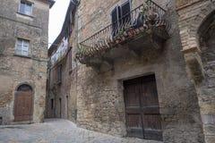 Volterra Tuscany, historisk stad Royaltyfri Foto