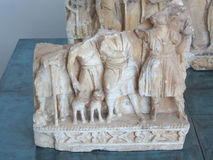Volterra, Tuscany, Italy, Estruscan funerary sculptures Stock Images