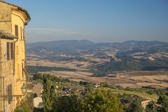 Volterra, Tuscany, landscape at evening Stock Images