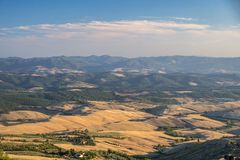 Volterra, Tuscany, landscape at evening Royalty Free Stock Photography