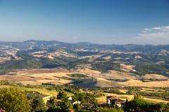 Volterra, Tuscany, landscape at evening Stock Image