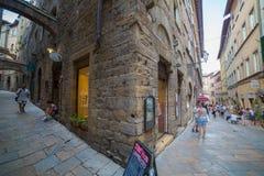 Volterra ulicy zdjęcie stock