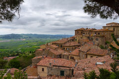 Volterra and view over Val d'Orcia, Italy Royalty Free Stock Images