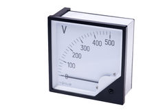 Voltmeter. Object on white - tool measuring instrument Voltmeter royalty free stock images