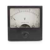 Voltmeter. Old industrial voltmeter over white background. Inscription on the scale - Made in USSR in russian language stock images