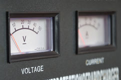 Voltmeter Fotografering för Bildbyråer