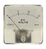 Voltmeter. That is isolated in white Royalty Free Stock Photo