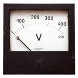 Voltmeter getrennt auf Weiß lizenzfreie stockfotografie