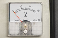 Voltmeter. An instrument, used to measure voltage stock photo