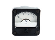Voltmeter isolated Stock Photography